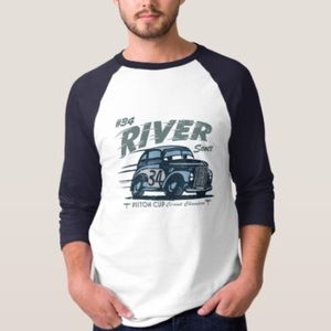 "NEW Custom Cars "" River Scott"" Raglan Shirt"